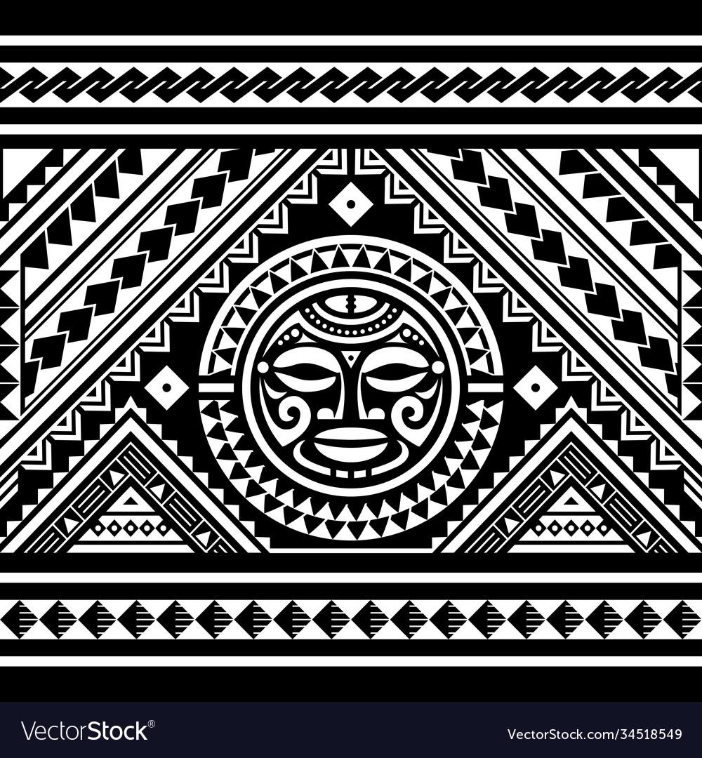Polynesian seamless geometric pattern