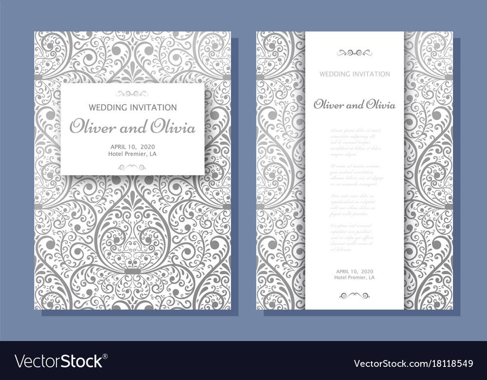Wedding Invitation Templates.Set Of Wedding Invitation Templates Cover Design