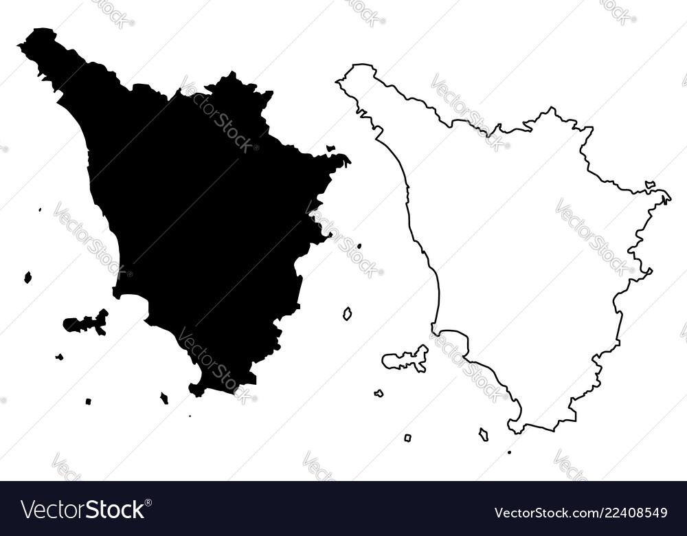Tuscany Map Of Italy.Tuscany Map Royalty Free Vector Image Vectorstock