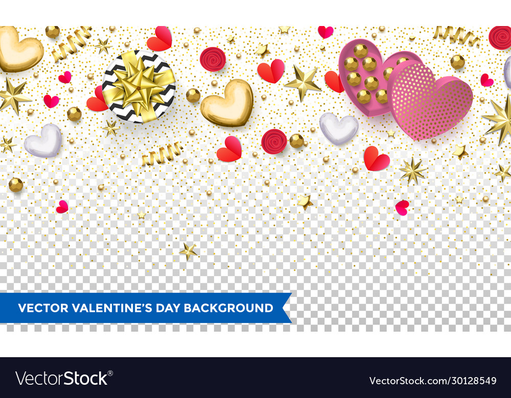 Valentines day background design hearts and