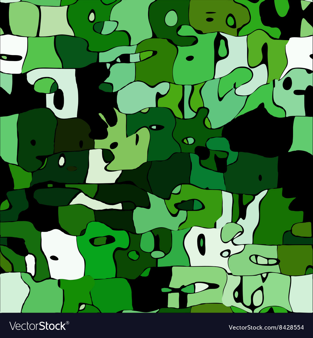 Abstract color mosaic animals pattern