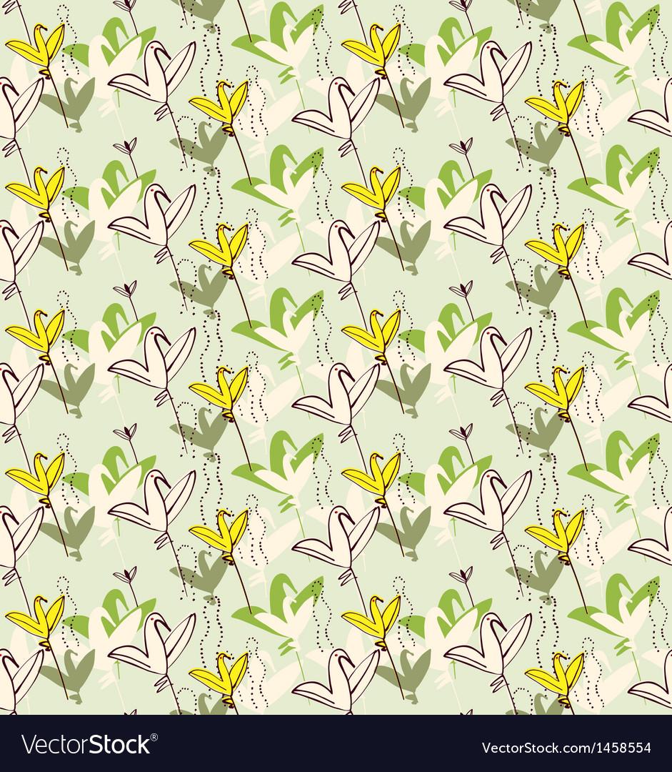 Birds as flowers Invitation greeting postcard