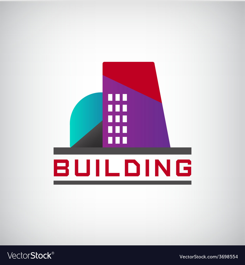 Building logo colorful construction