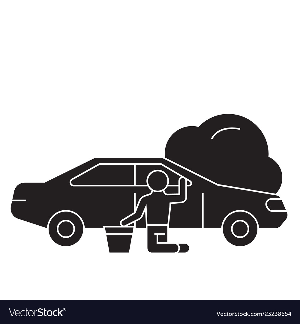 Car repair black concept icon car repair