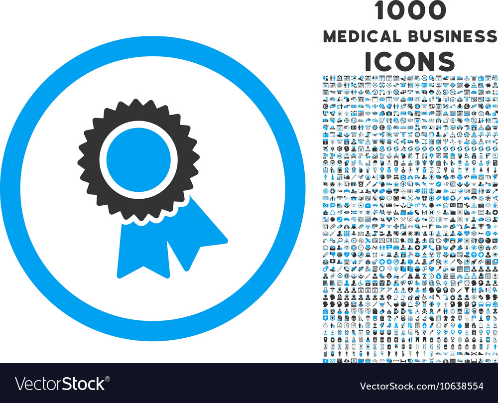 Certification Rounded Icon With 1000 Bonus Icons Vector Image