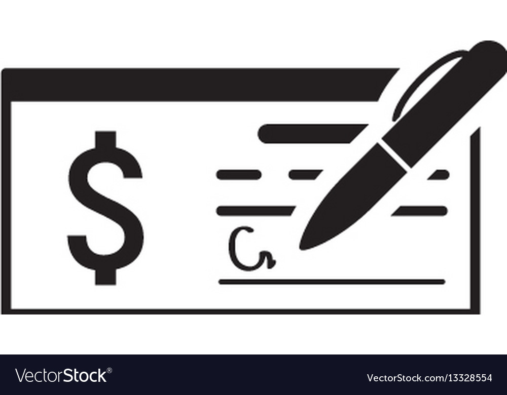 money check business icon flat design royalty free vector