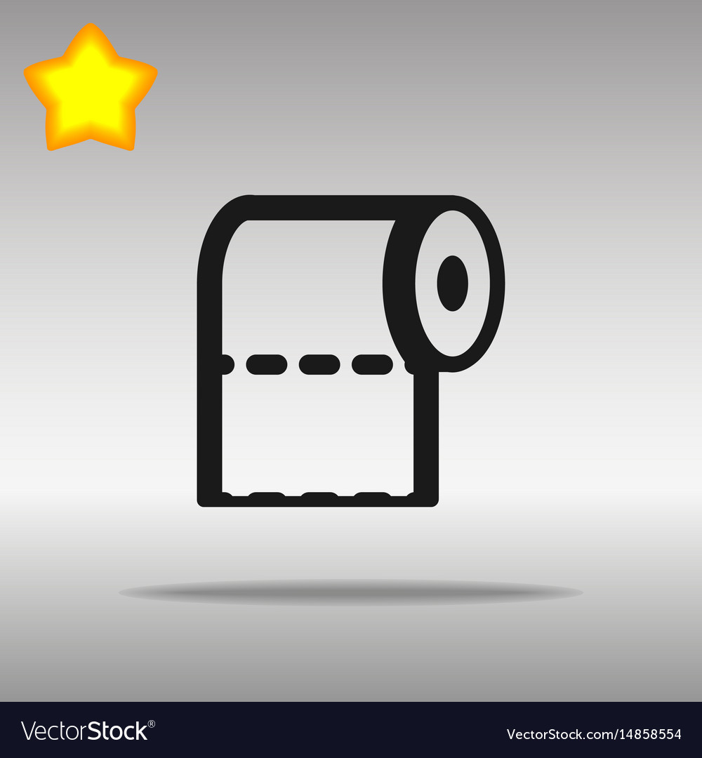 Toilet paper black icon button logo symbol