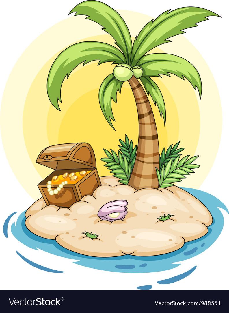 Treasure island Royalty Free Vector Image - VectorStock