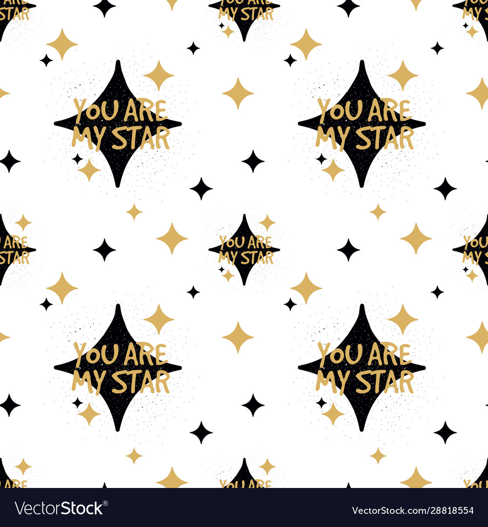 You are my star seamless pattern love valentine