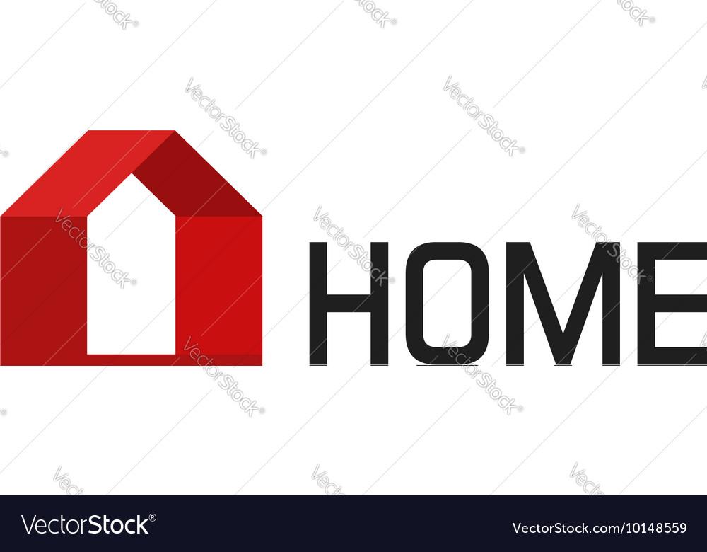 Home logo isolated geometric house