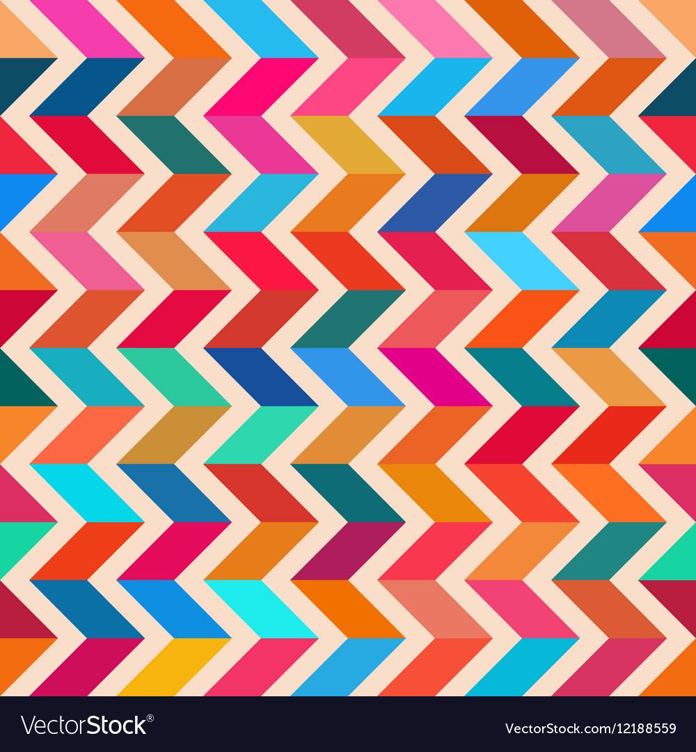 Seamless Colorful ZigZag Line Bright