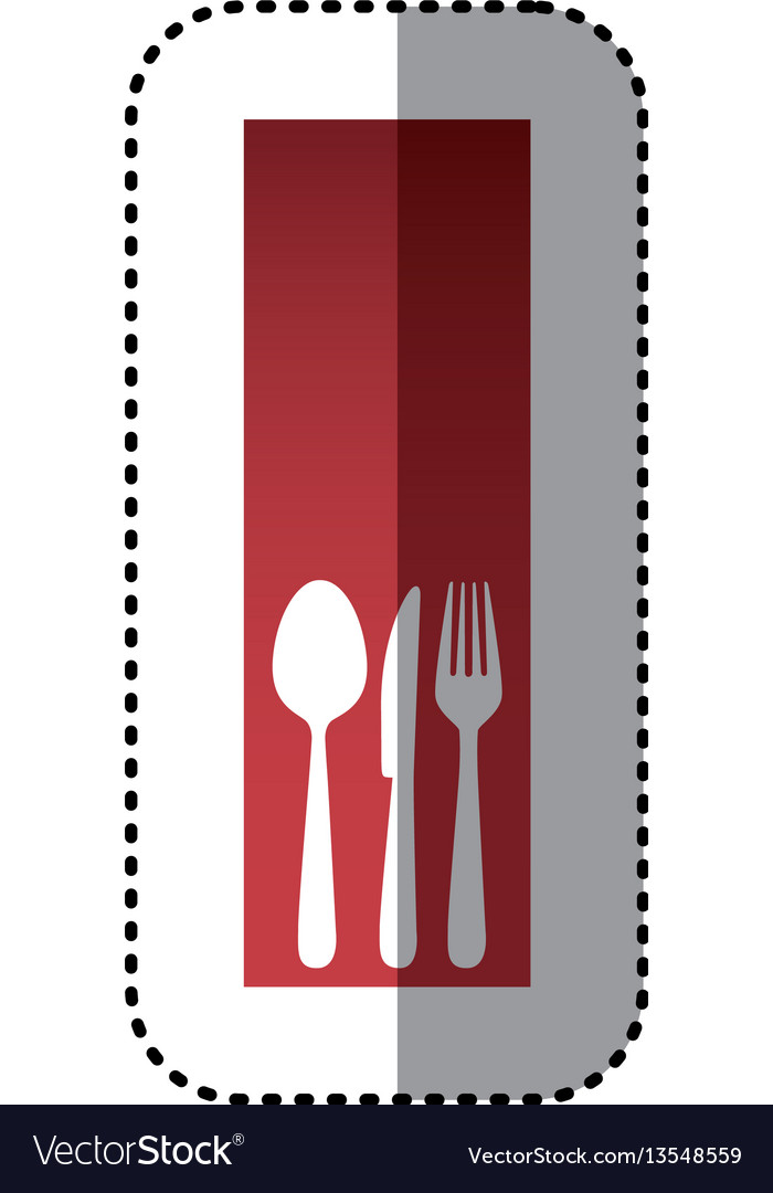 Sticker red rectangle banner frame with