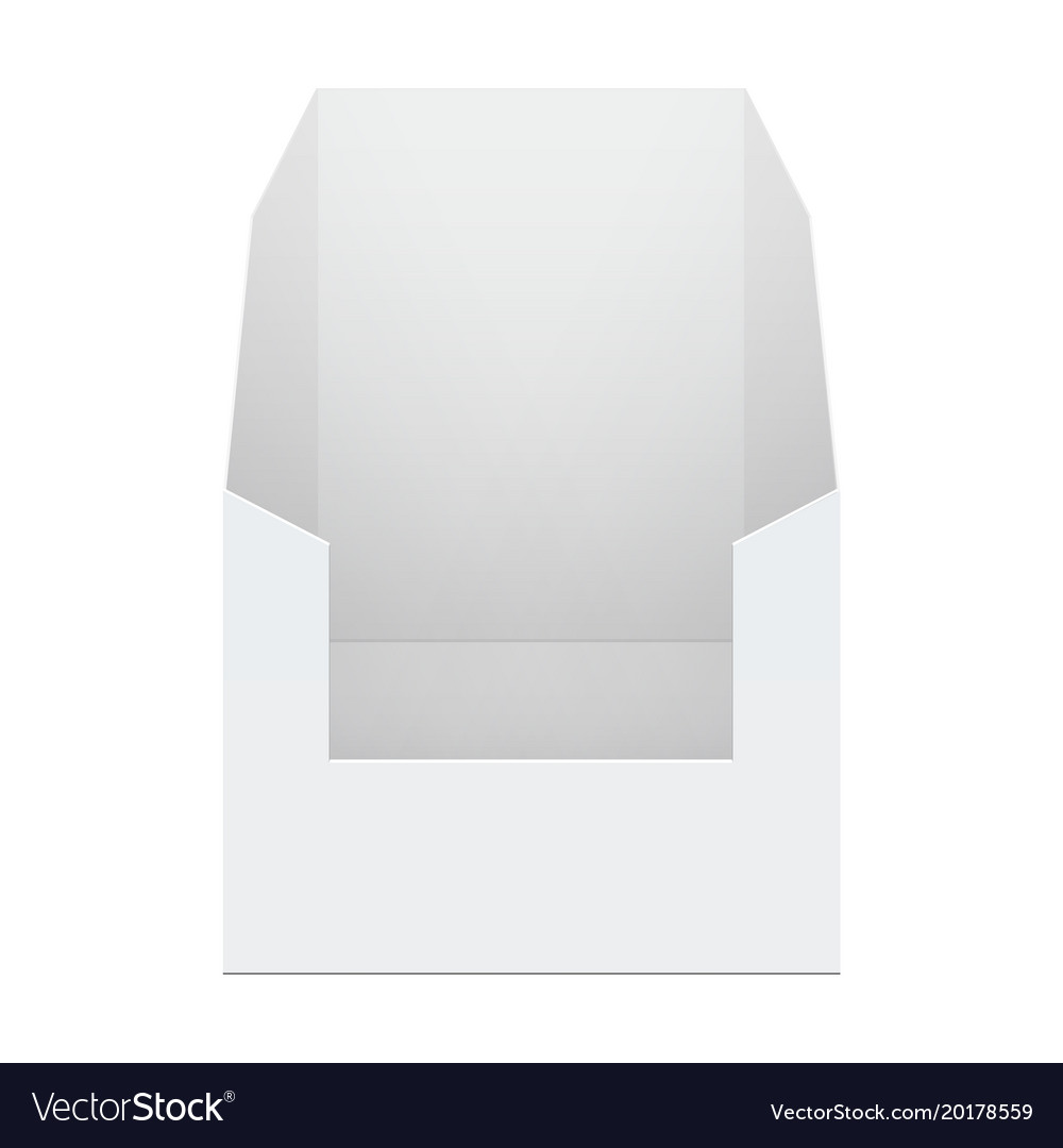 White cardboard pos poi holding box vector image