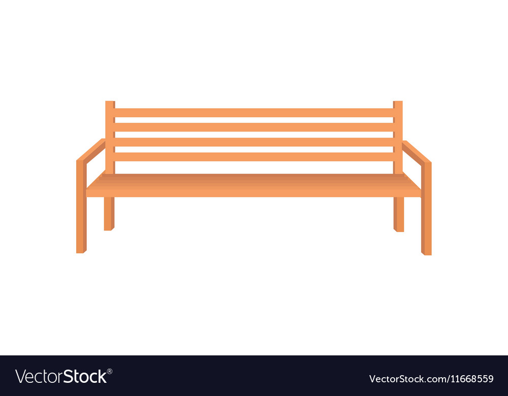 Park Bench Royalty Free Vector Image