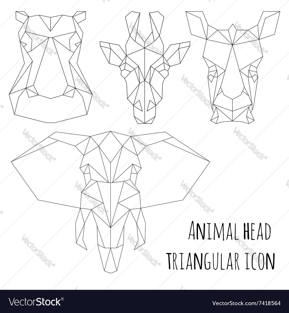 Animal Head Diagram Great Installation Of Wiring Ppm For Vector Triangular Icon Geometric Line Design Image Rh Vectorstock Com Cell