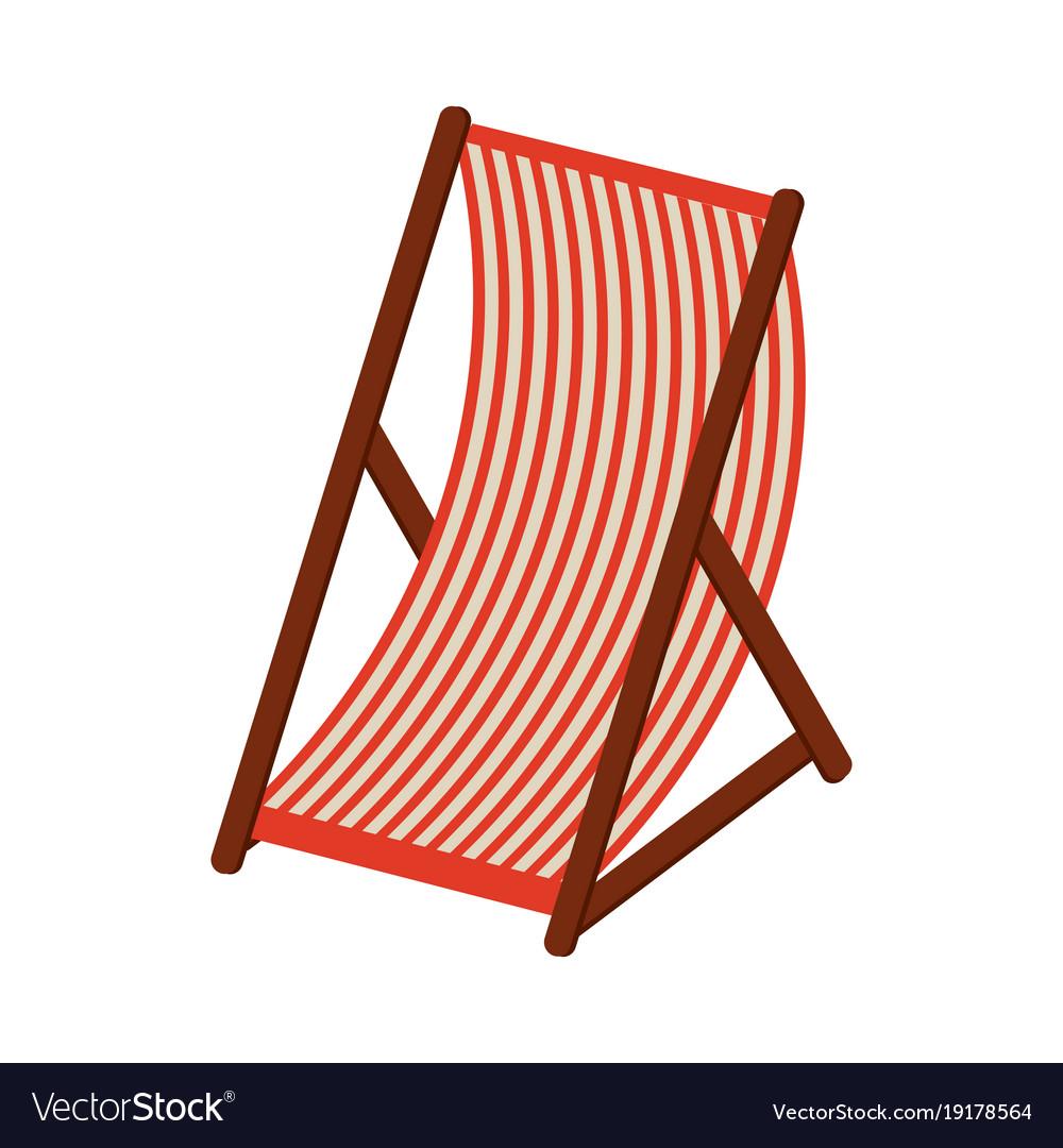 Beach sunchair isolated