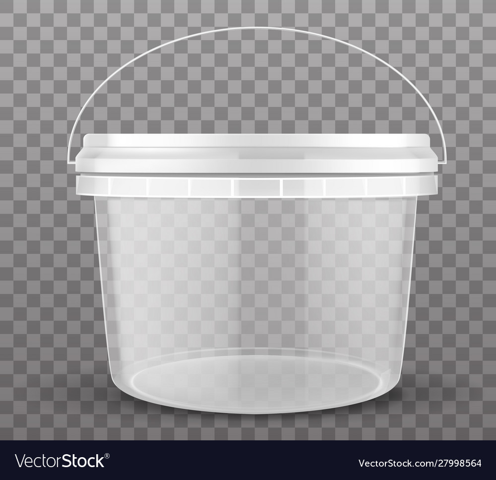 Clear Plastic Bucket