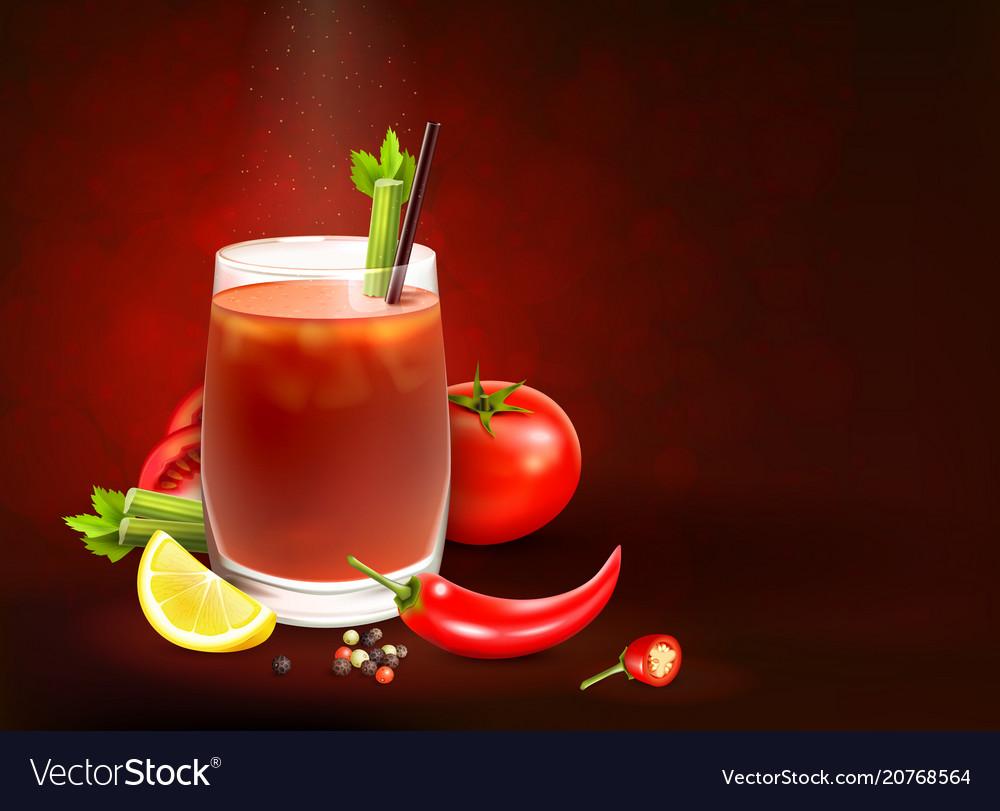Cocktails realistic composition