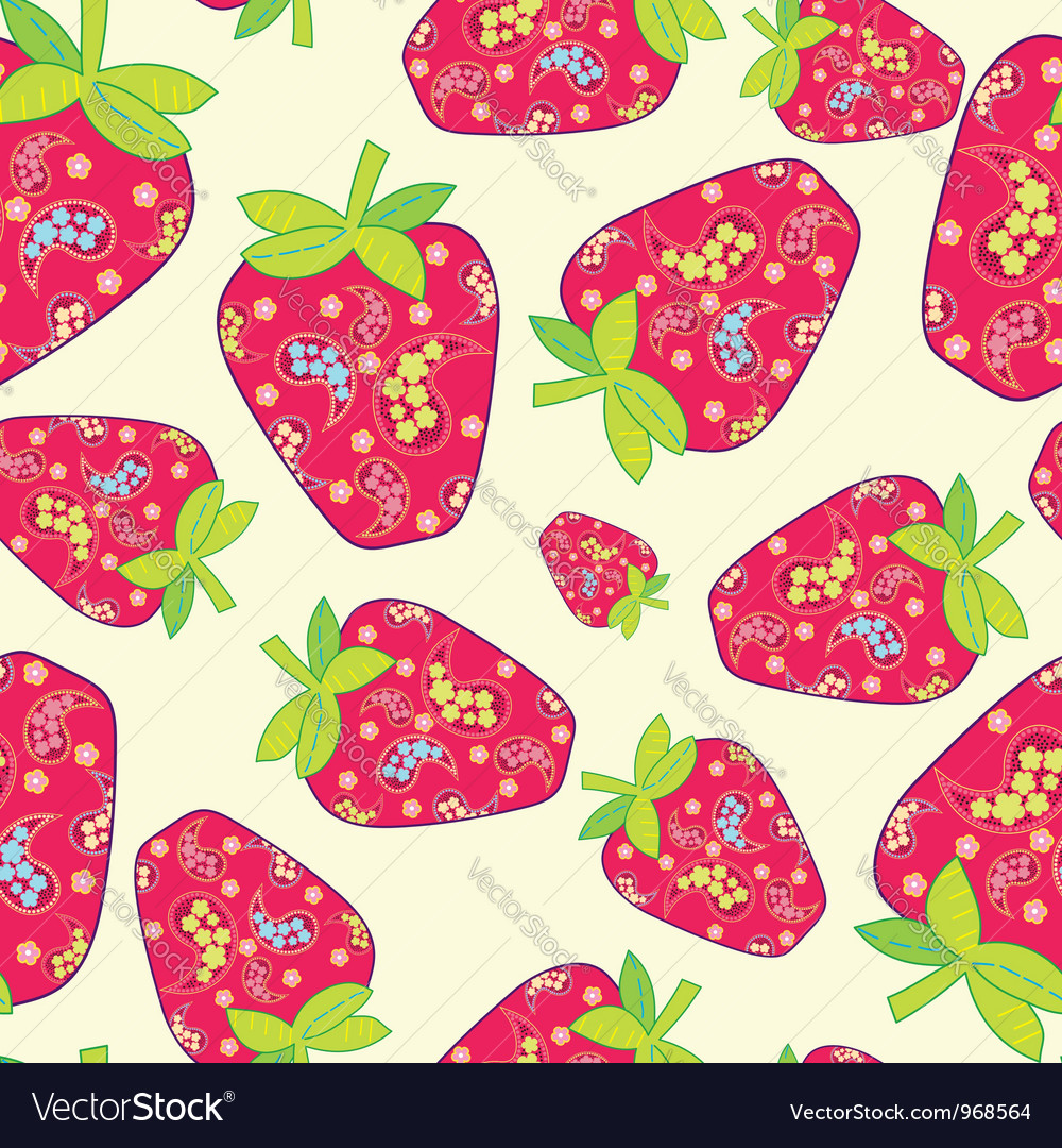 Cute fruits seamless background
