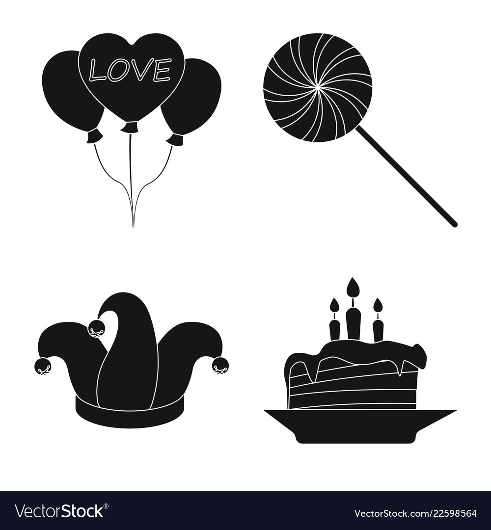 Design of party and birthday logo set of
