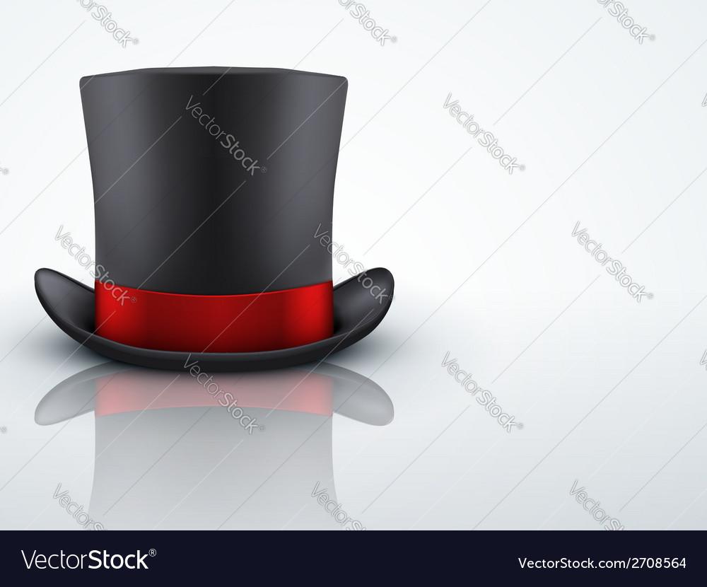 Light Background Black gentleman hat cylinder with