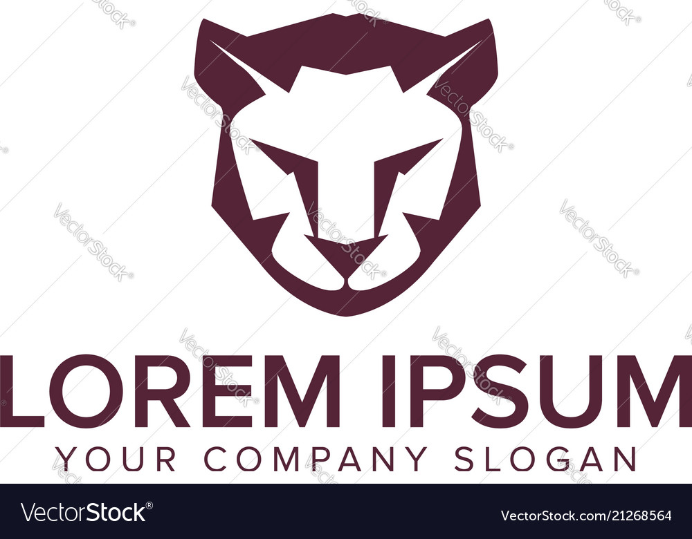 Lion Tiger Logo Design Concept Template Royalty Free Vector
