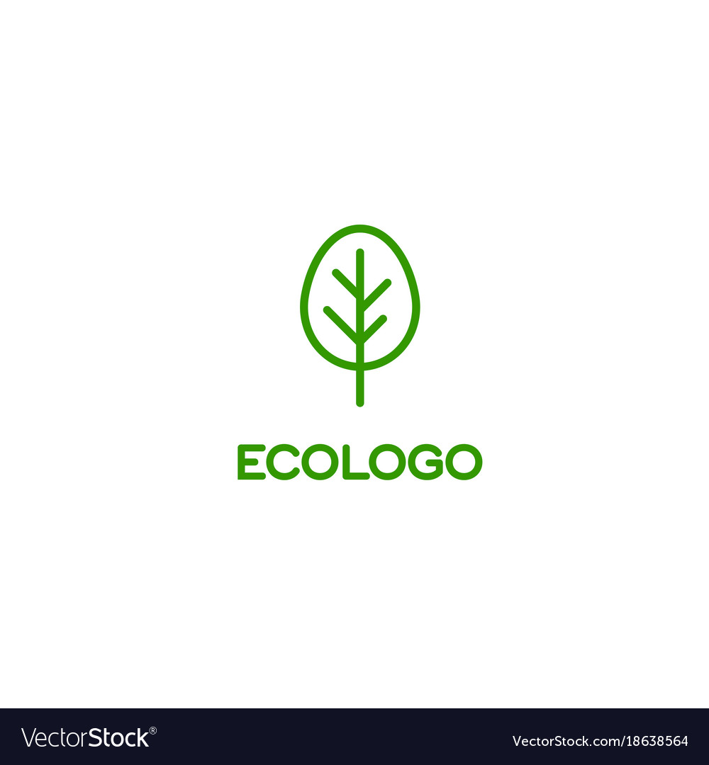 Logo green tree ecology healthsymbol of quality
