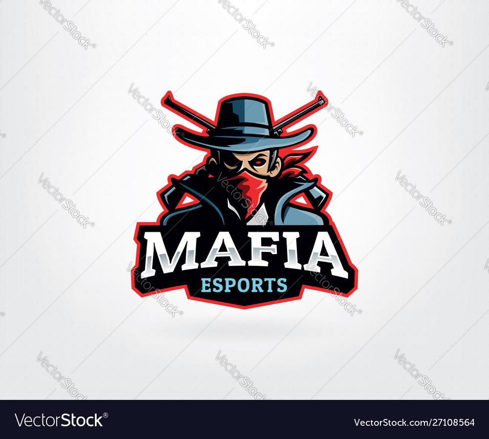 Mafia e sport logo mascot