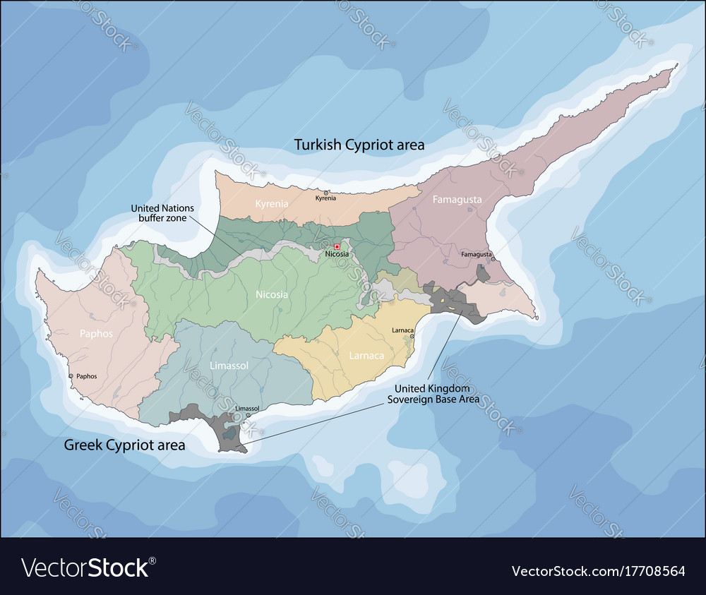 Map of cyprus royalty free vector image vectorstock map of cyprus vector image gumiabroncs Image collections
