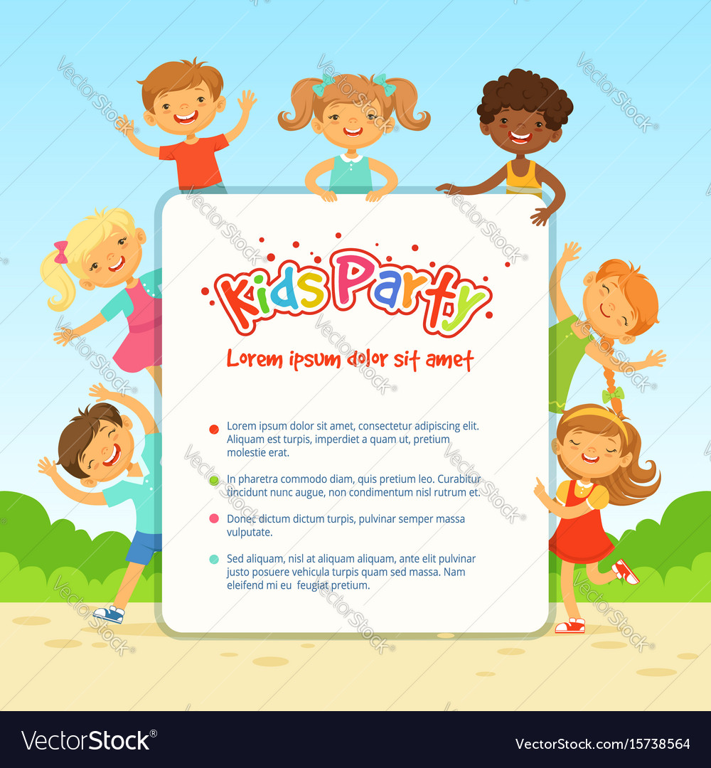 Poster for children party funny different