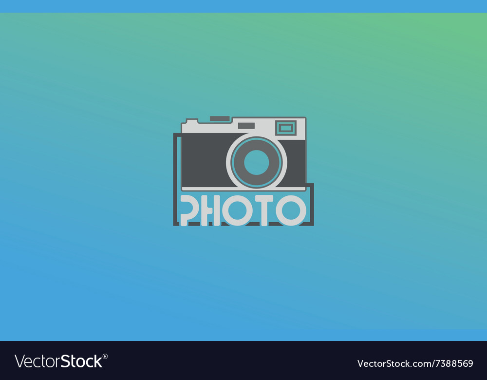 Abstract camera logo logotype design