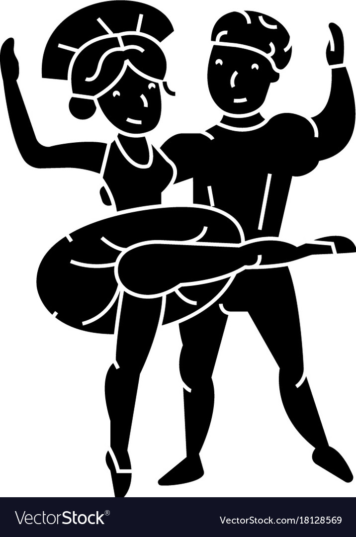 Ballet couple man and woman dance icon