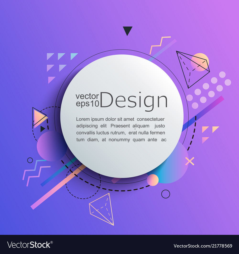 Circle frame on gradient background