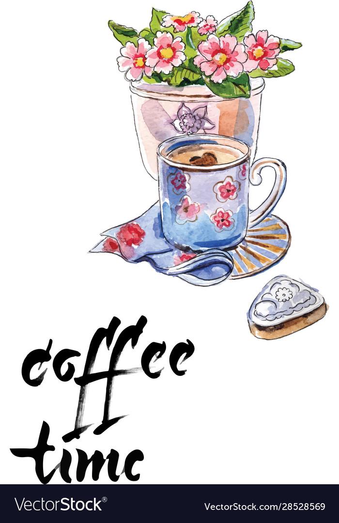 Coffee time cup coffee flower