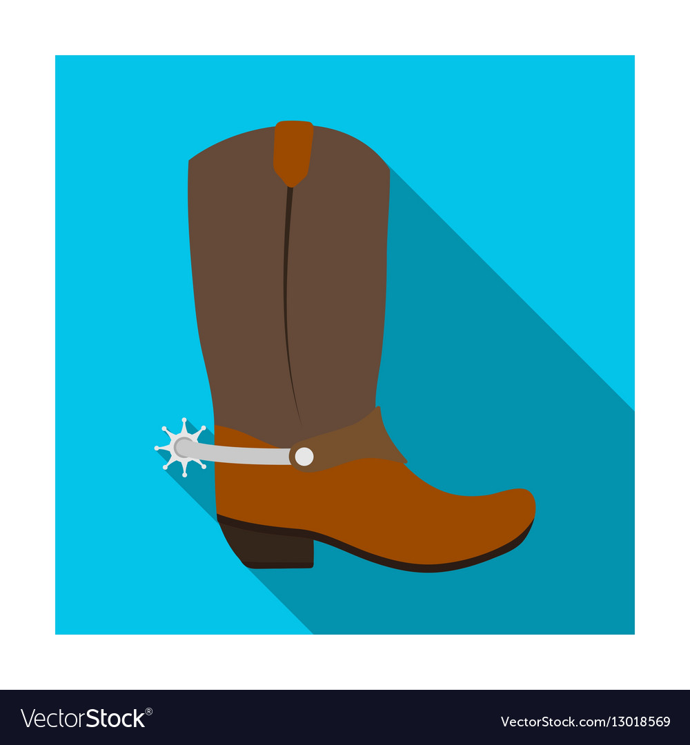 Cowboy boots icon in flat style isolated on white