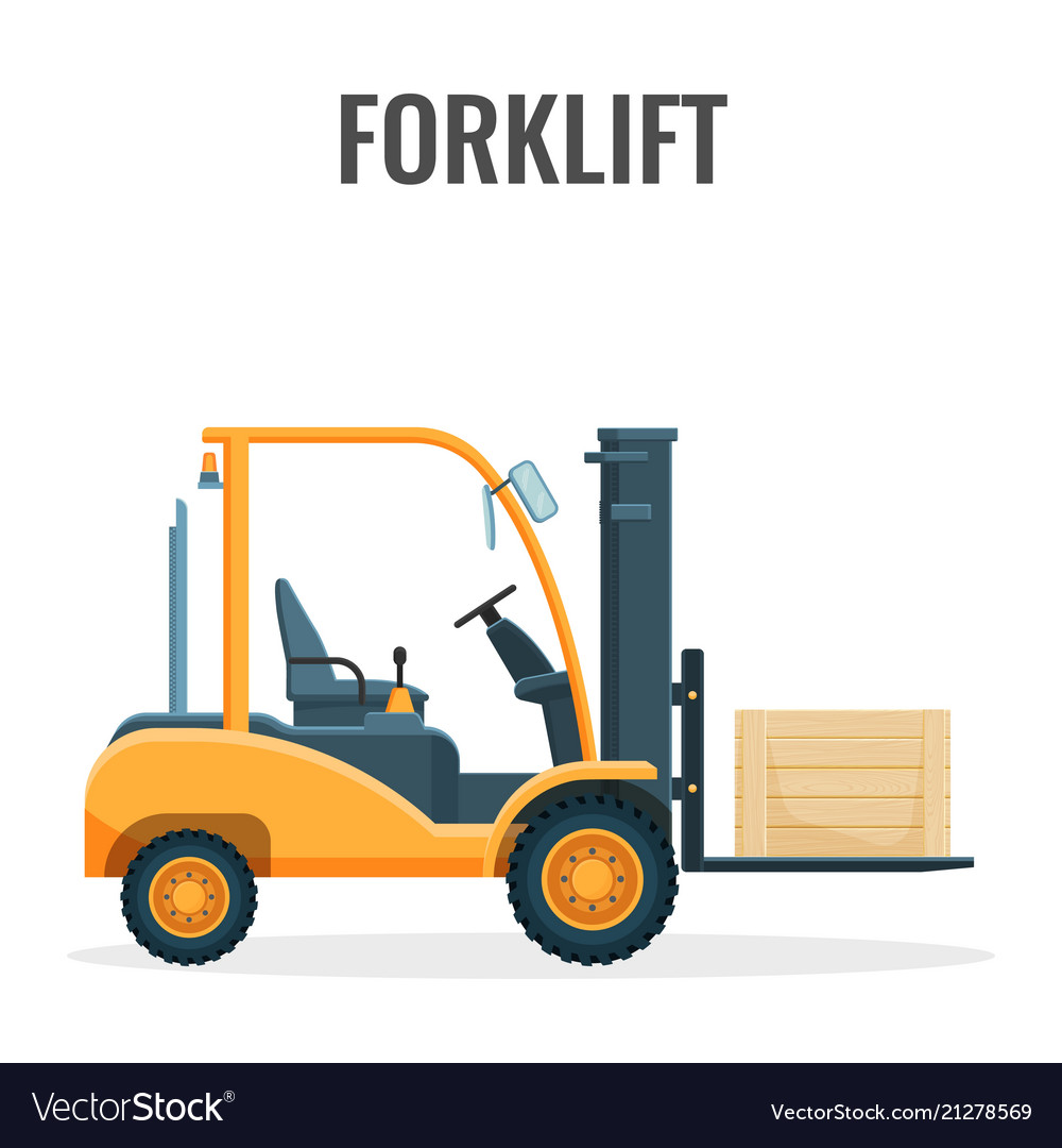 Forklift truck with cargo icon loader