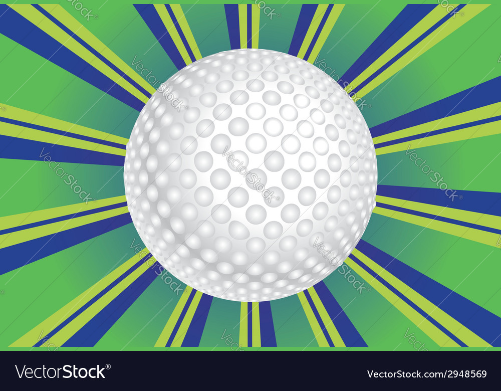 Golf Ball Background vector image