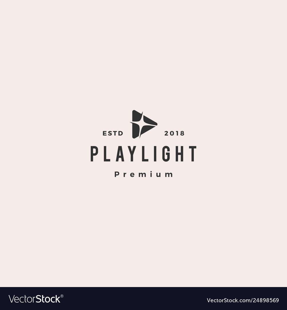 Play light flare blitz bright logo icon