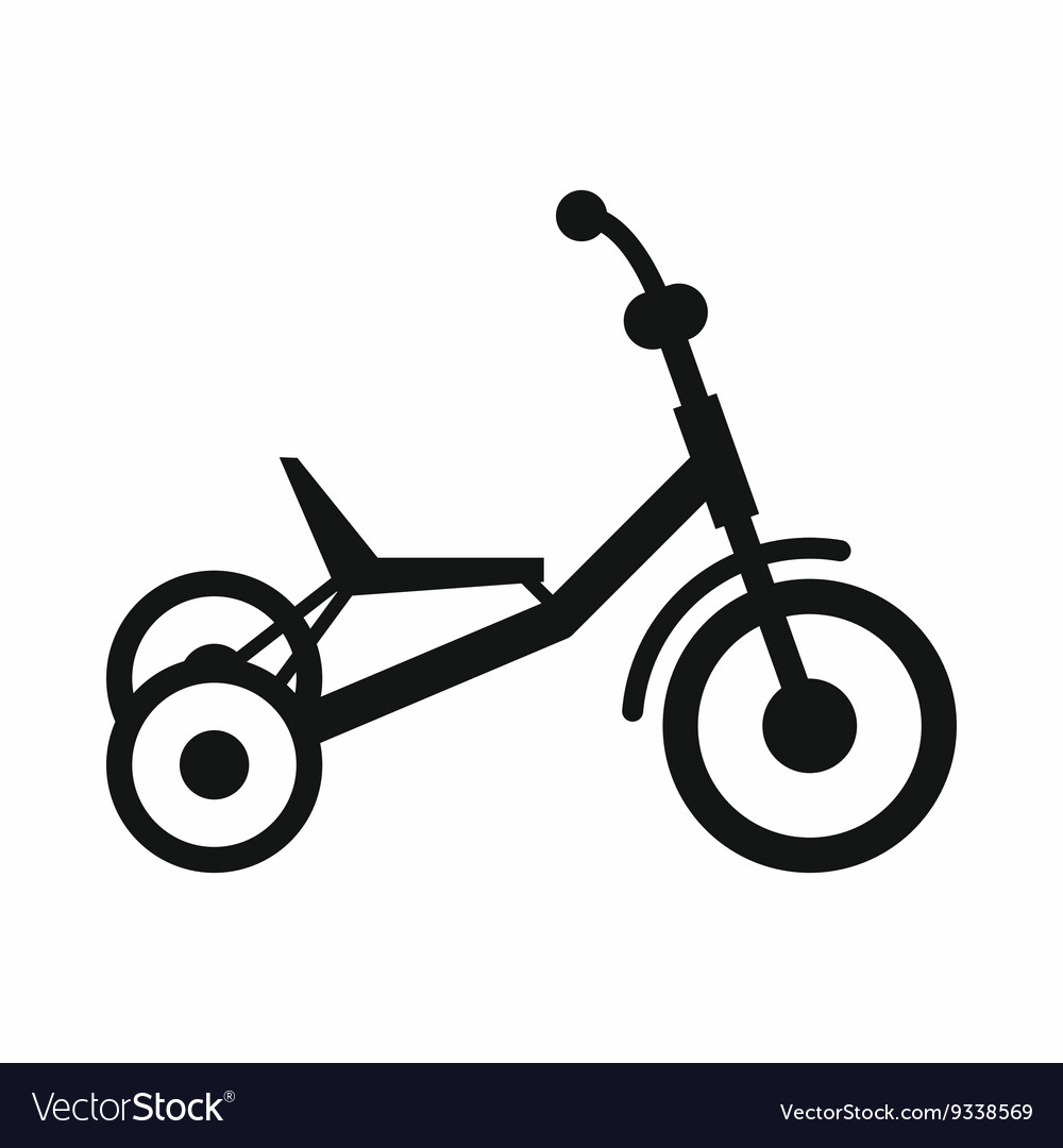 Tricycle Drawing Simple Vector Images 50
