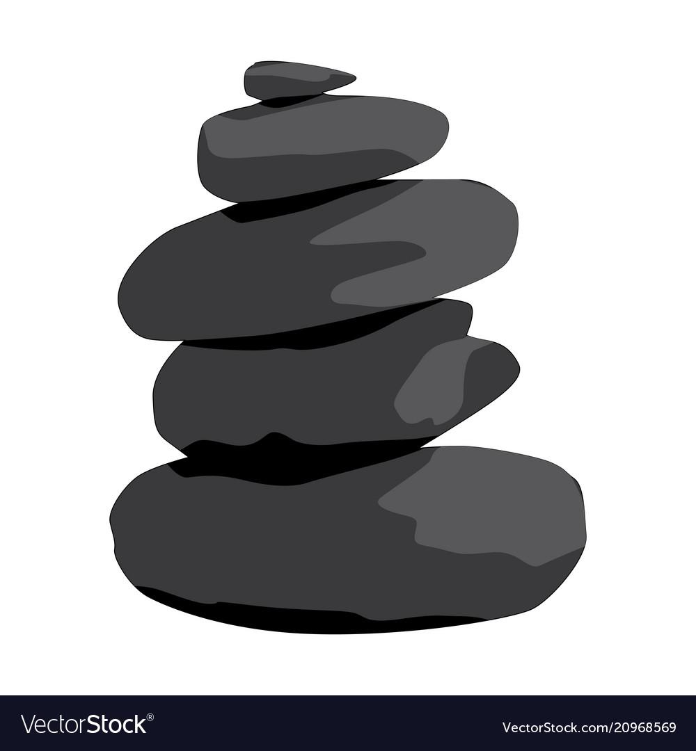 Zen Stones Royalty Free Vector Image Vectorstock