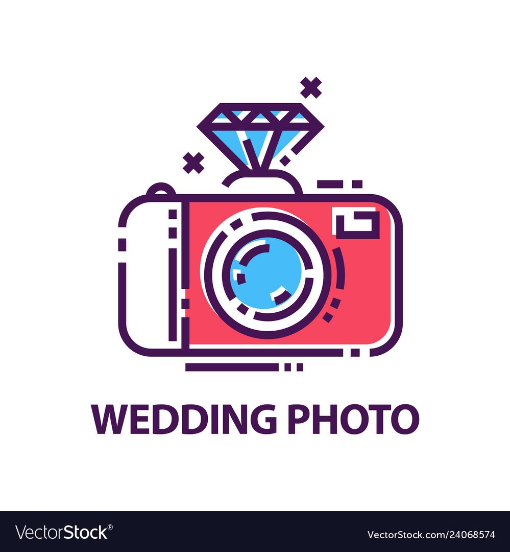 Abstract wedding photography logo template
