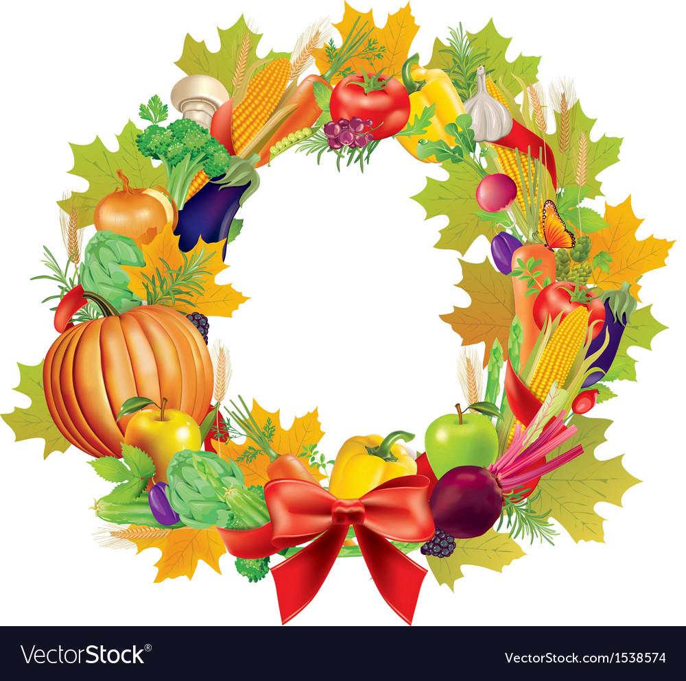 Harvest wreath vector image