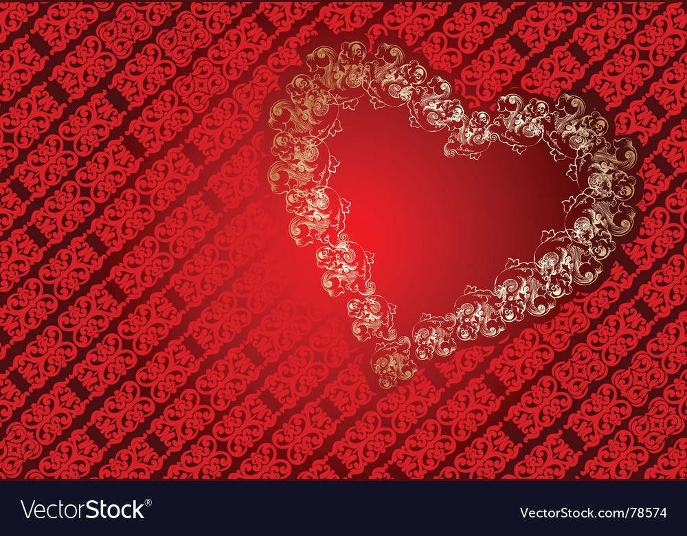 Heart frame background