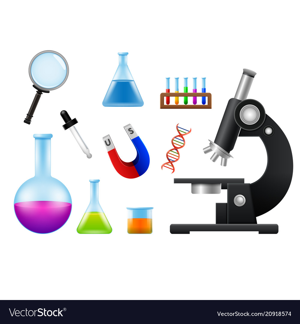 laboratory tools and equipmentprint vector image