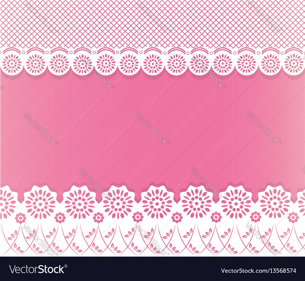 Lace papercut frame vector image