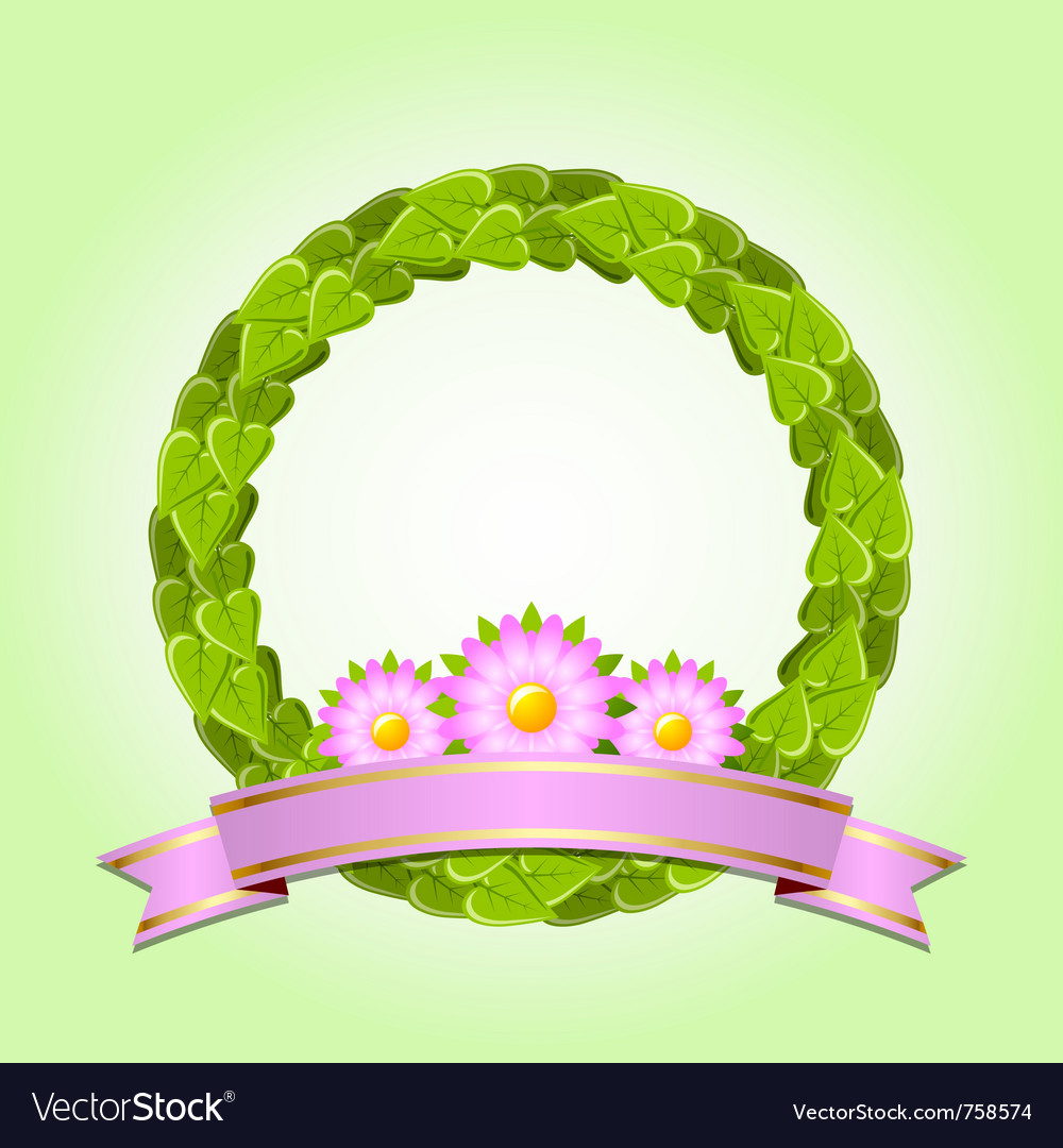 Nature wreath vector image