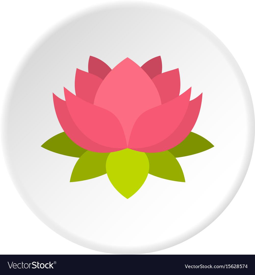 Pink lotus flower icon circle royalty free vector image pink lotus flower icon circle vector image mightylinksfo