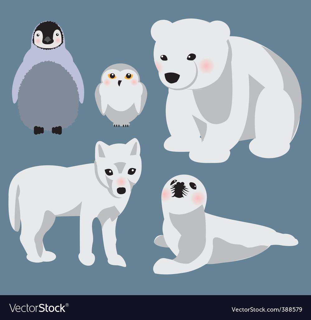 Arctic babies vector image