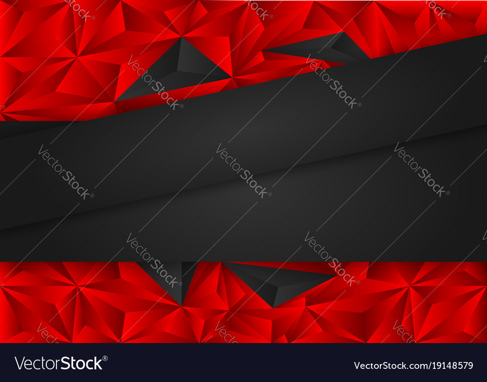 Black And Red Polygon Abstract Background