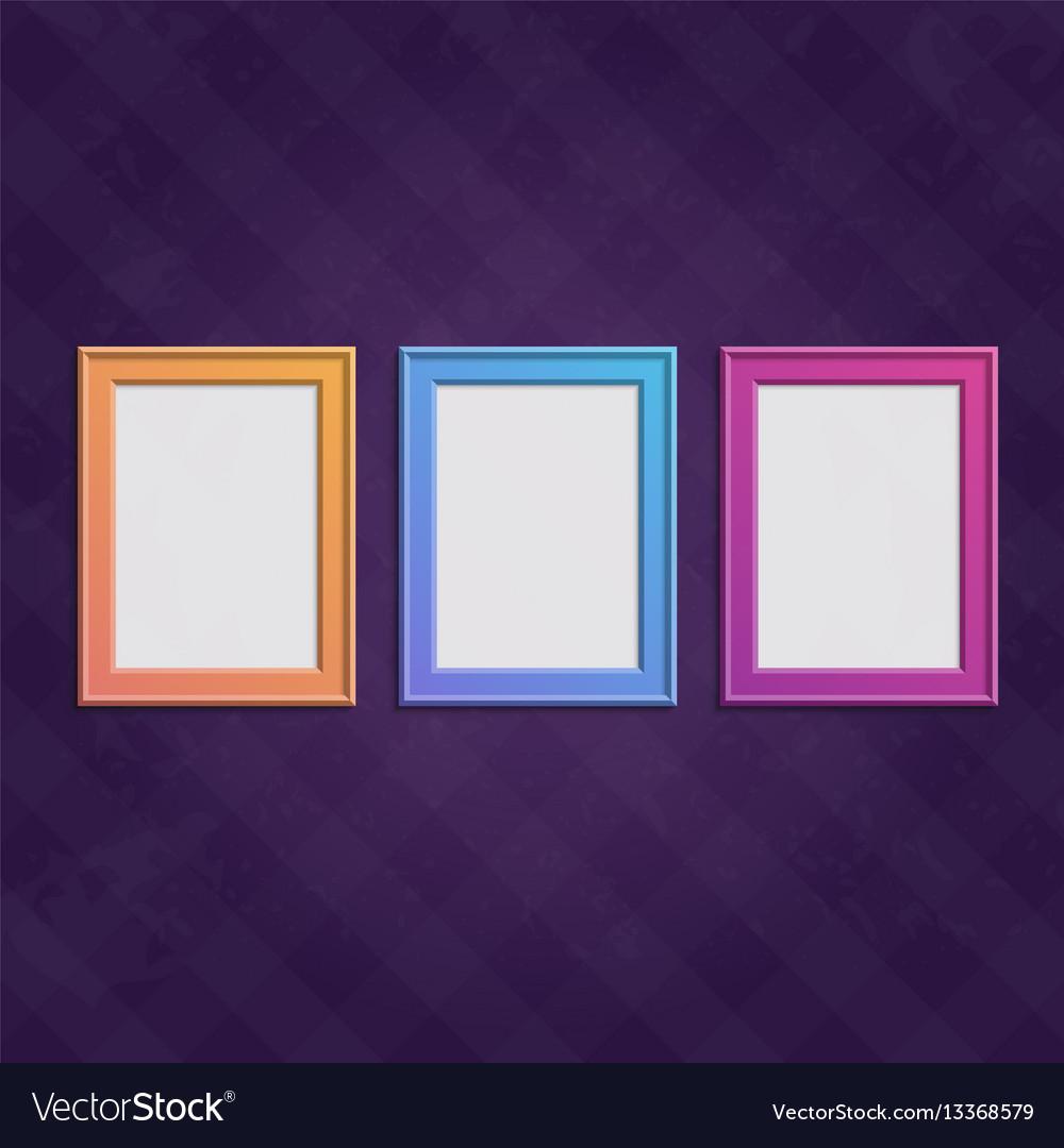 Colored frames set vector image